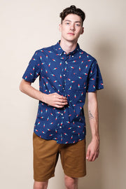 Navy Popsicle Woven Shirt for Men