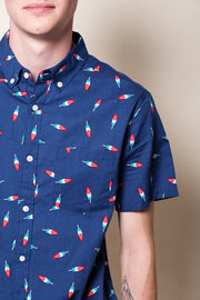 Navy Popsicle Woven Shirt