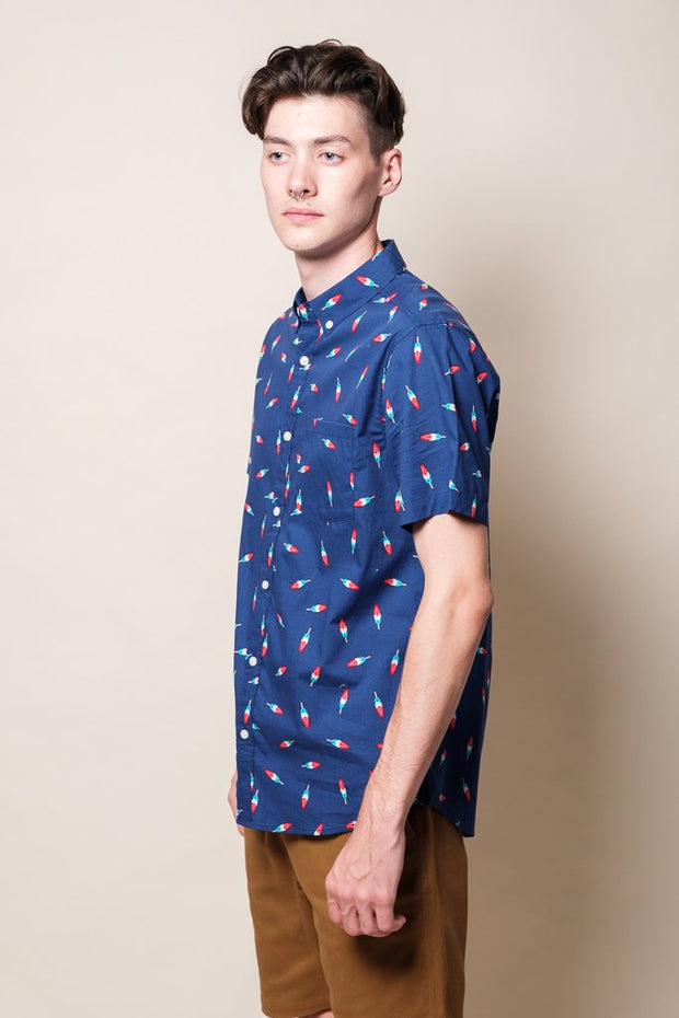 Men's Navy Popsicle Woven Shirt