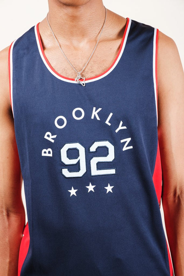 Navy Brooklyn Tank Top for Men