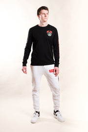 White Savage Logo Fleece Jogger Pants