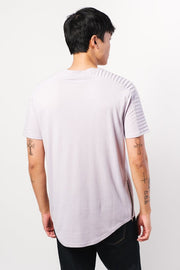 Lavender Moto Side Zipper Tee