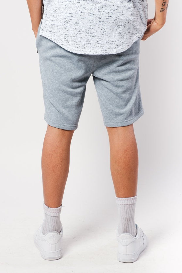 Heather Grey Zip Pocket Knit Shorts
