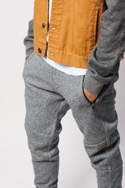 Black Marl Fleece Jogger Pants