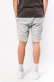Grey Space Dye Zip Pocket Shorts
