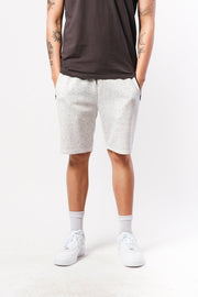 Natural Snow Fleece Zip Pocket Shorts