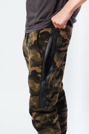Camo Heat Sealed Zip Fleece Jogger Pants