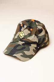 Camo Smiley Face Dad Hat for Men