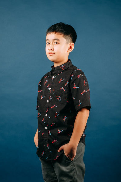 Boys Button Down black shirt