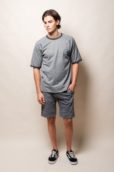Light Grey Slub Shorts from Brooklyn Cloth
