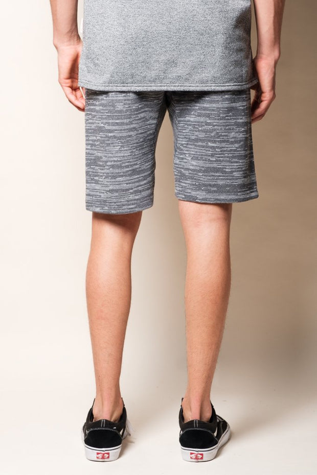 Men's Light Grey Slub Shorts