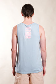 Dusty Blue Drip Tank Top