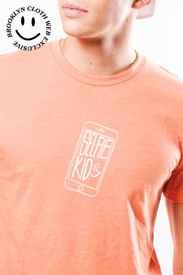 Selfie Kid Tee Orange