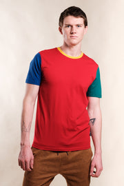 Red Color Block Tee