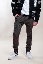 Core Charcoal Space Dye Twill Jogger Pants