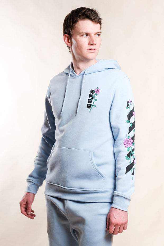 Dusty Blue No Bad Vibes Hoodie