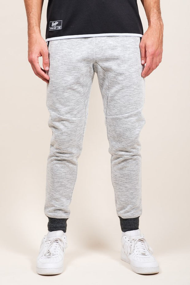 White Speckled Streaky Jogger Pants