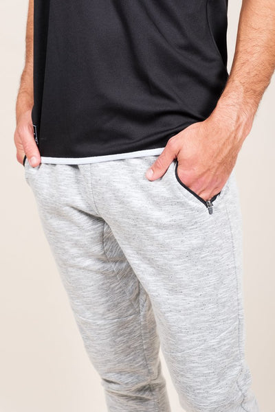 Brooklyn Cloth White Speckled Streaky Jogger Pants