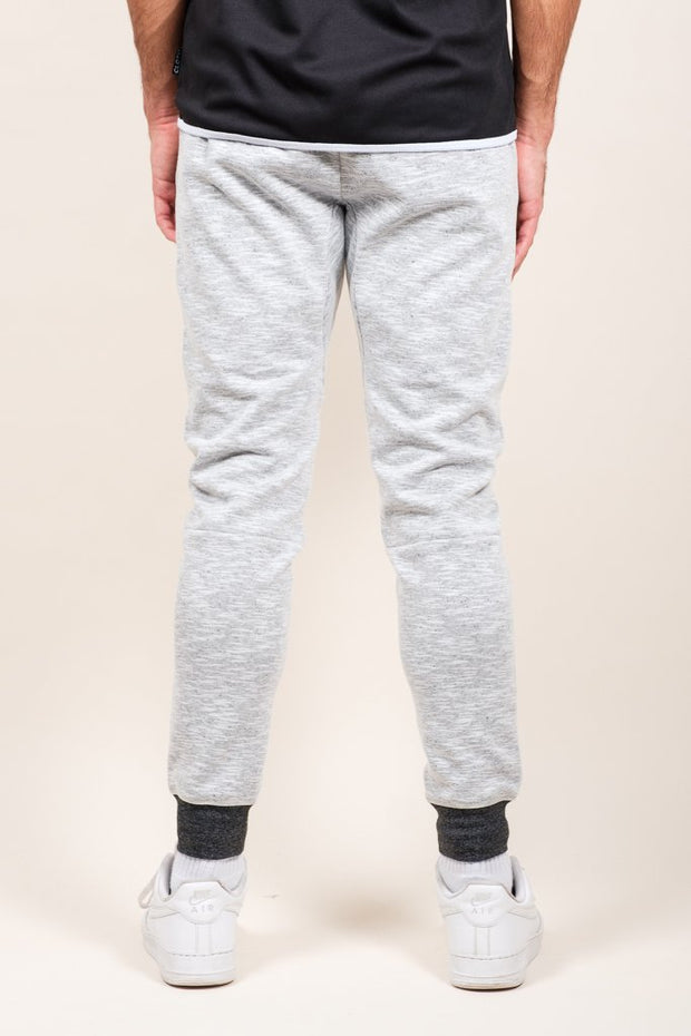 White Speckled Streaky Jogger Pants at Brooklyn Cloth