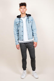 Brooklyn Cloth Men's Hooded Denim Trucker Jacket