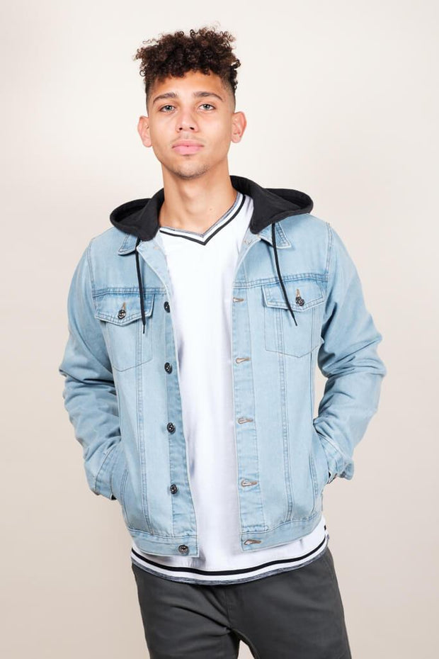 Hooded Denim Trucker Jacket