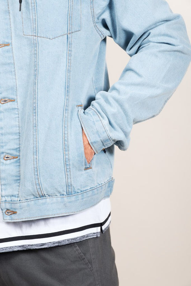 Brooklyn Cloth Hooded Denim Trucker Jacket