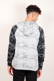 Brooklyn Cloth Black Marl Cozy Knit Raglan Hoodie