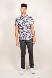 Brooklyn Cloth Pink Floral Print Woven Shirt