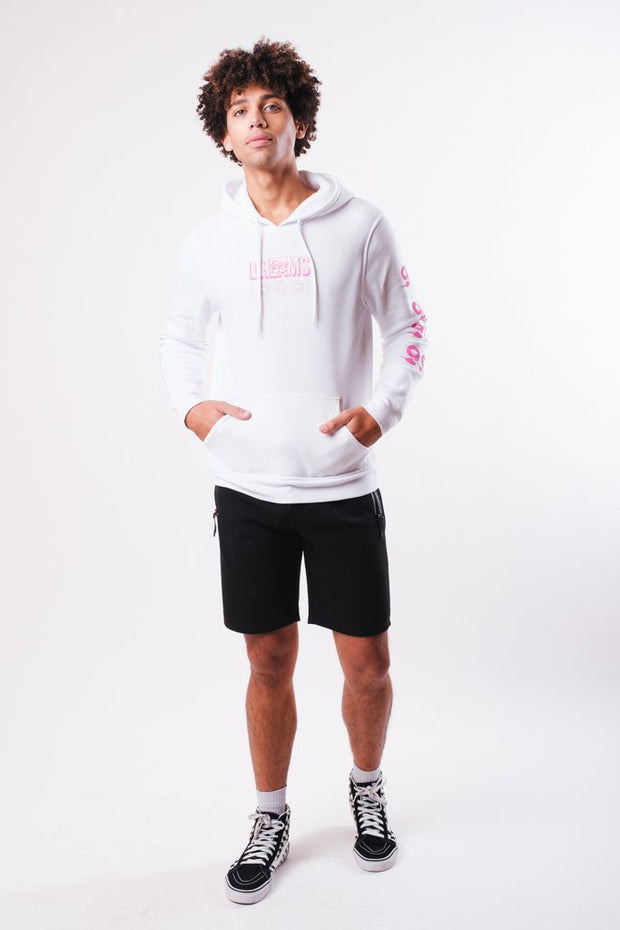 White 99 Cent Dreams Hoodie