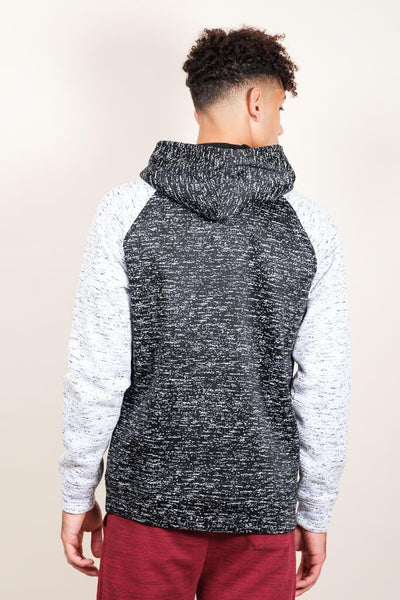 Brooklyn Cloth Black Space Dye Cozy Raglan Hoodie