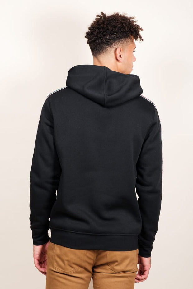 Men's Black New York Stripe Sleeve Hoodie