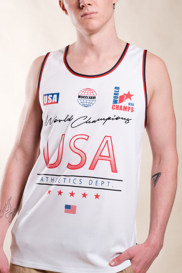 White USA World Champs Tank Top
