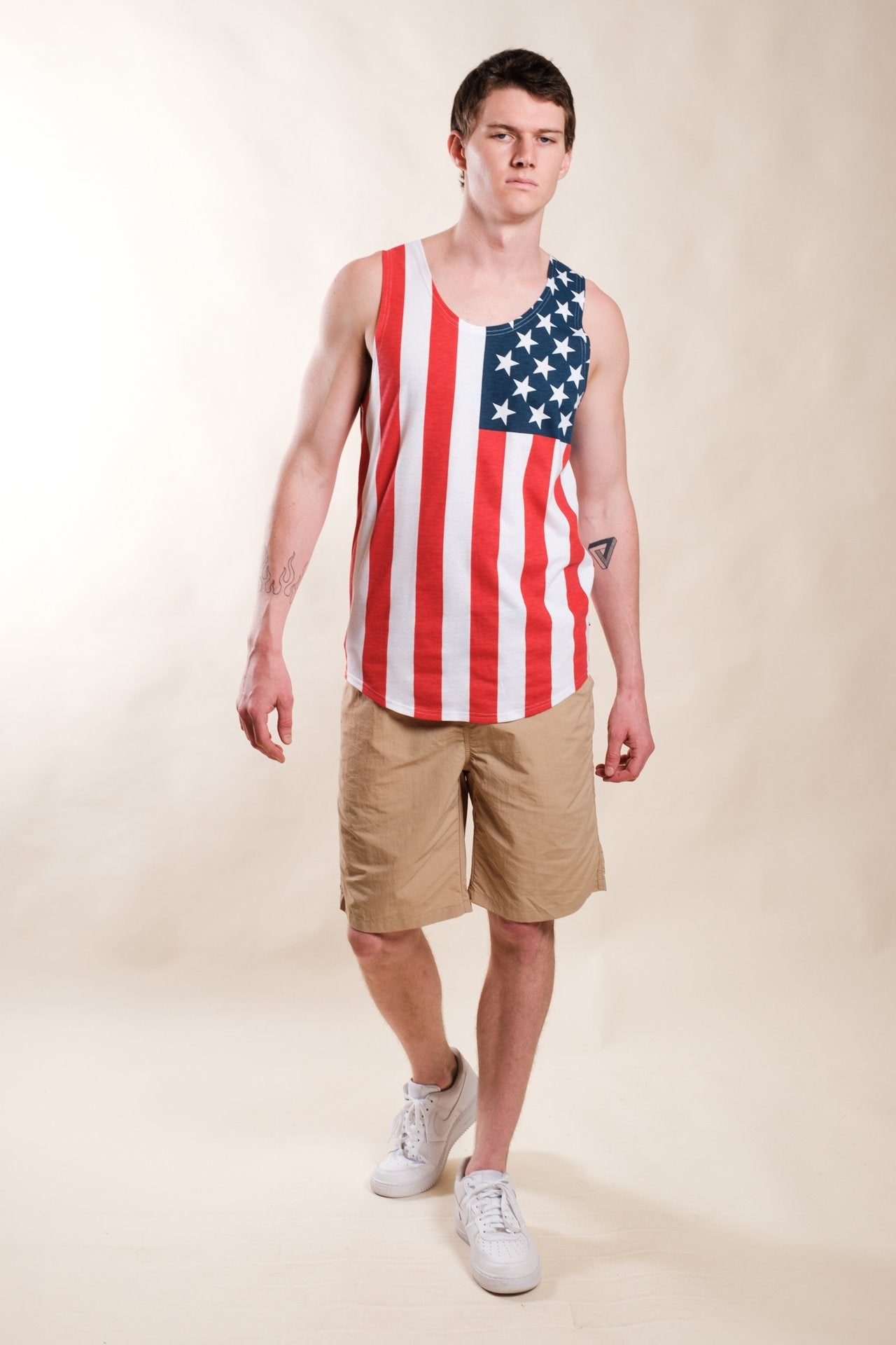 Red White and Blue Flag Tank Top