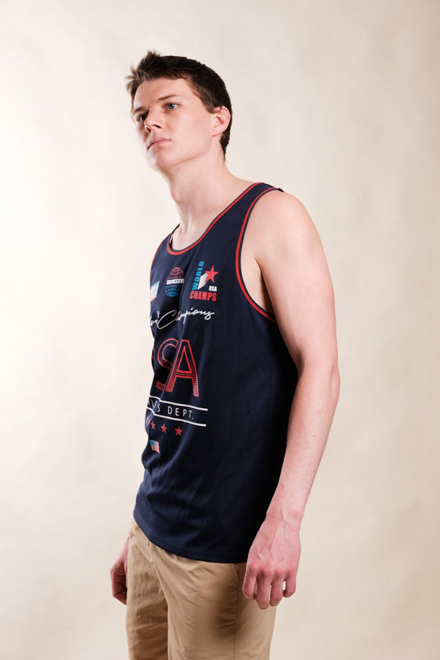 Navy USA World Champs Tank Top