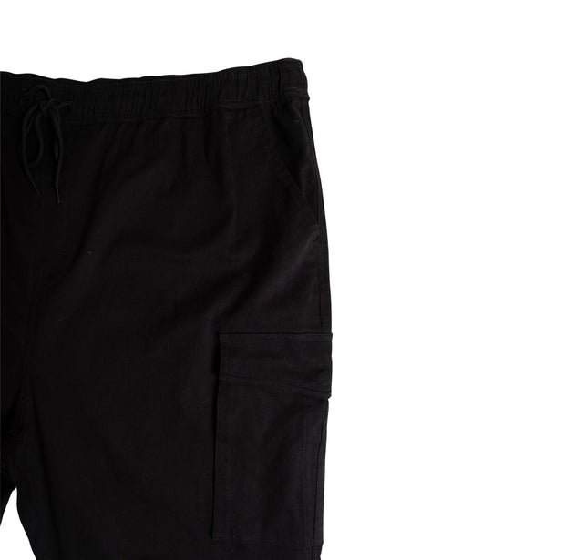 Big & Tall Black Core Pocket Twill Jogger Pants