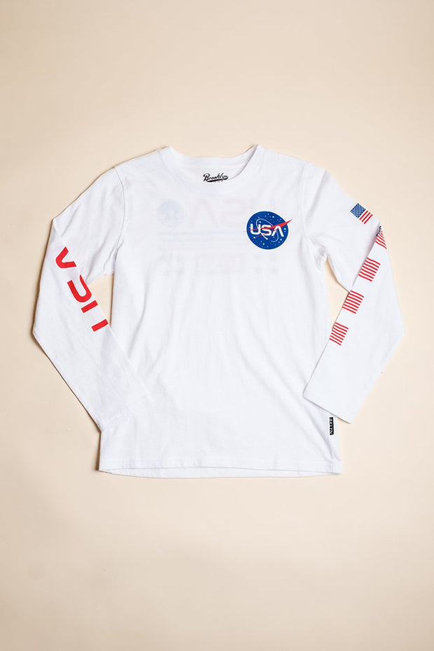 Boys Space Mission Long Sleeve Tee