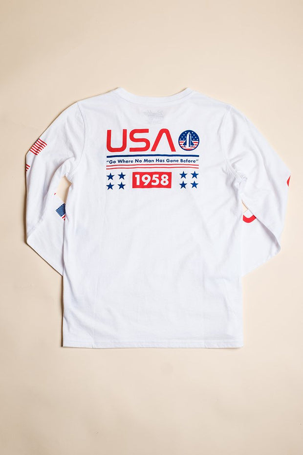 Boys Space Mission Long Sleeve Tee at Brooklyn Cloth