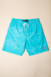 Blue Streaky Swim Trunks for Men