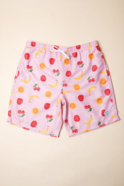 Fruit Print Swim Trunks