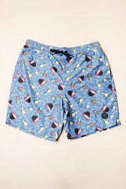 Pina Colada Swim Trunks for Men in purple