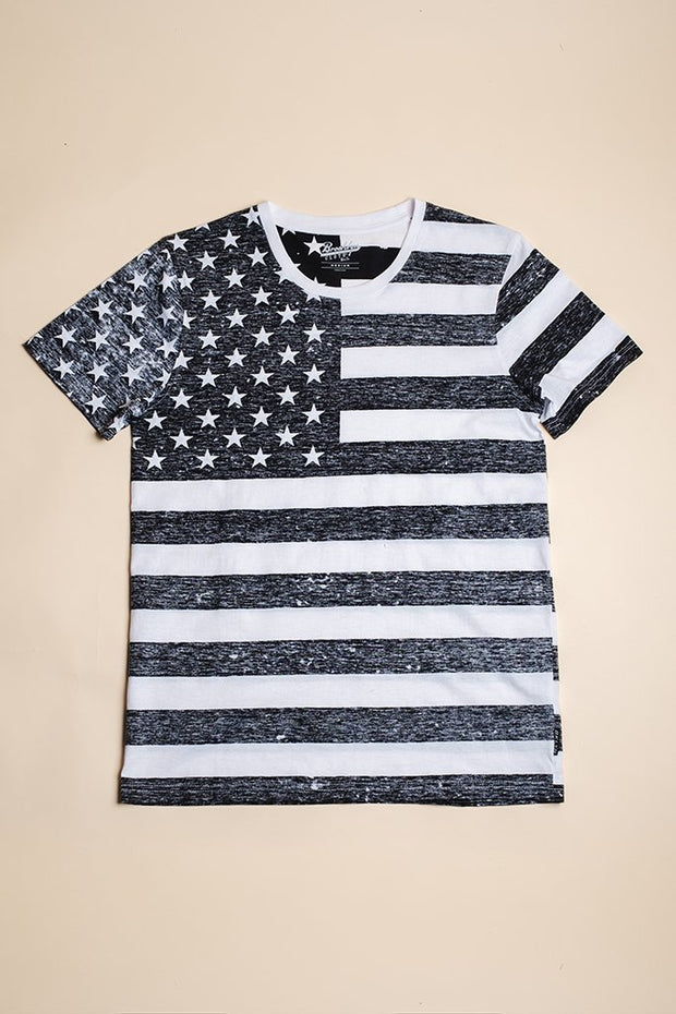 Black and White Flag Tee