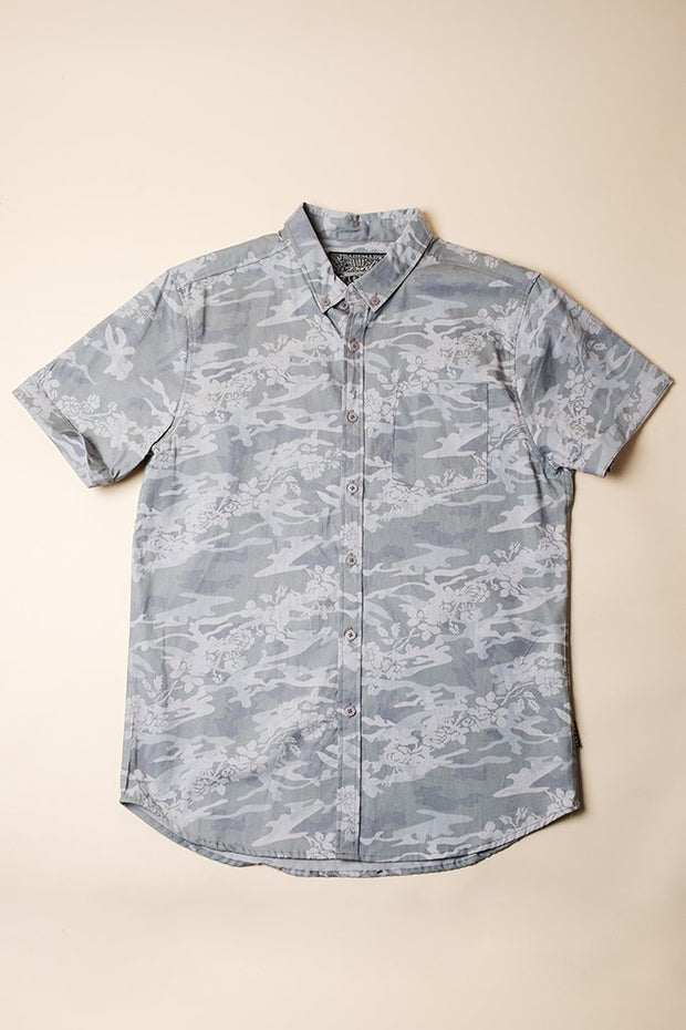 Grey Woven Shirt for Men