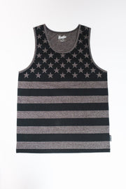 Charcoal Marl Stars & Stripes Tank