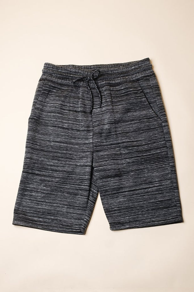 Mens Black Yarn Dye Shorts