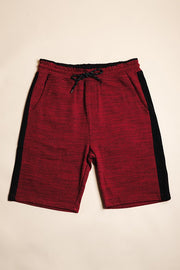 Burgundy Fleece Shorts