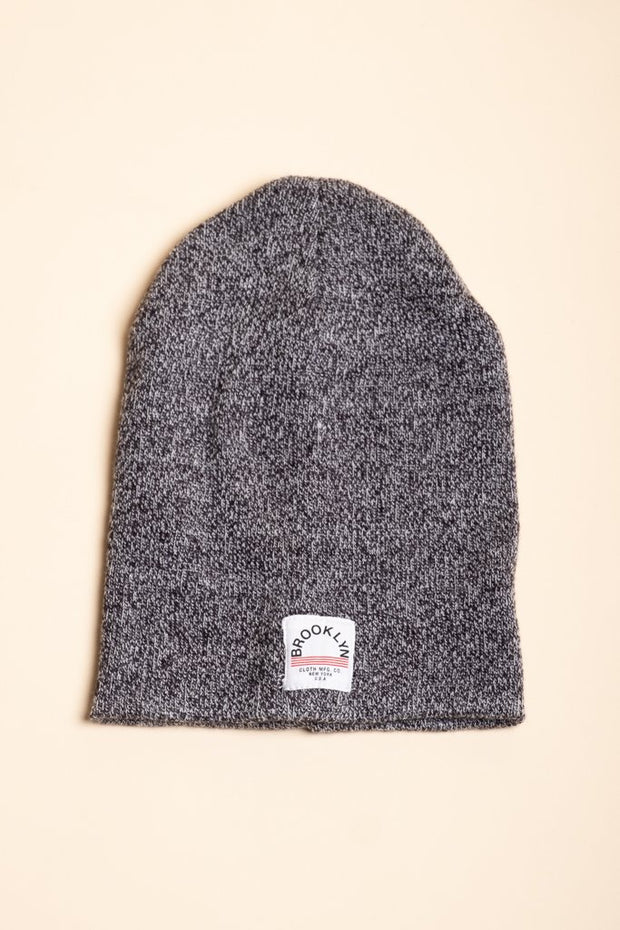 Black Marl Winter Beanie for Men