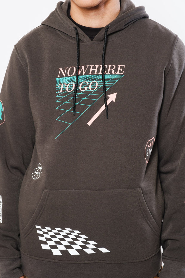 Dusty Black Nowhere to go Hoodie