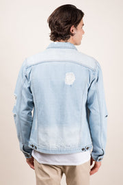 Brooklyn Cloth Distressed Denim Trucker Jacket
