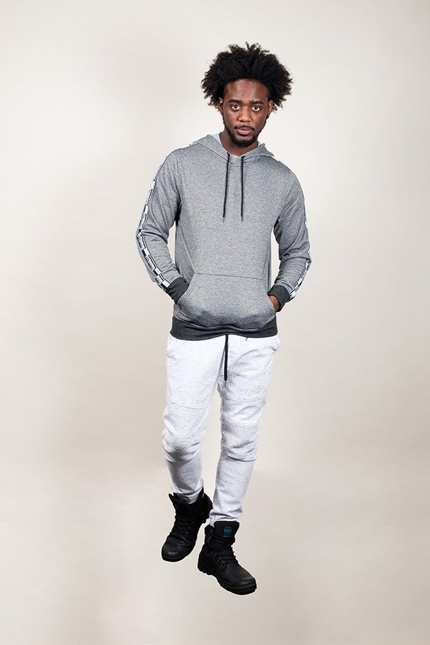 Brooklyn Cloth White Space Dye Moto Twill Jogger Pants for Men