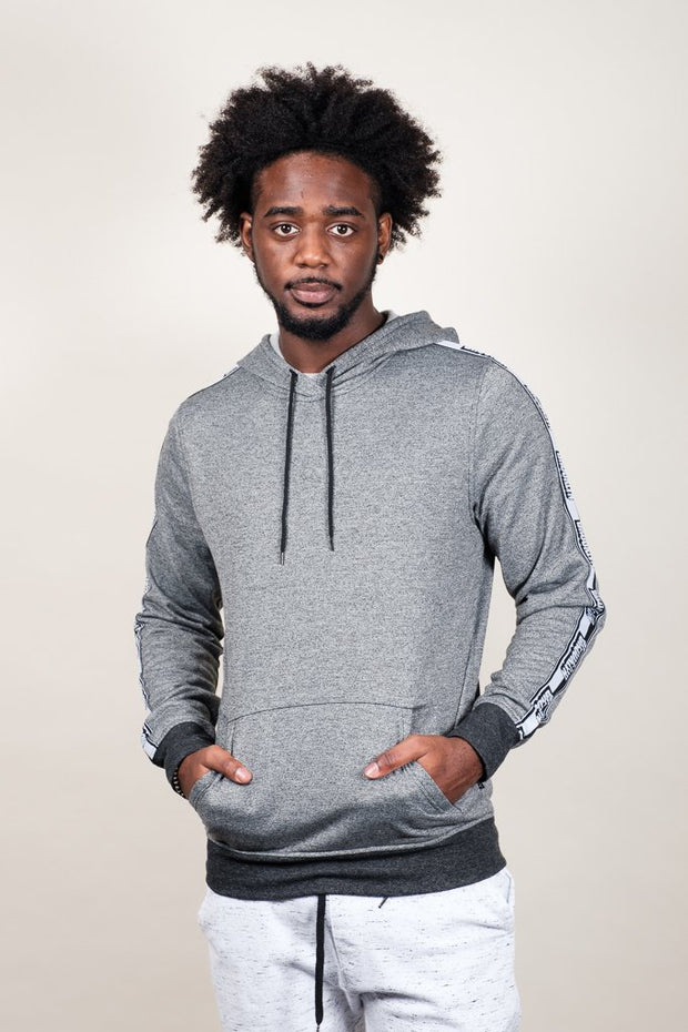 Black Marl Brooklyn Hoodie for Men